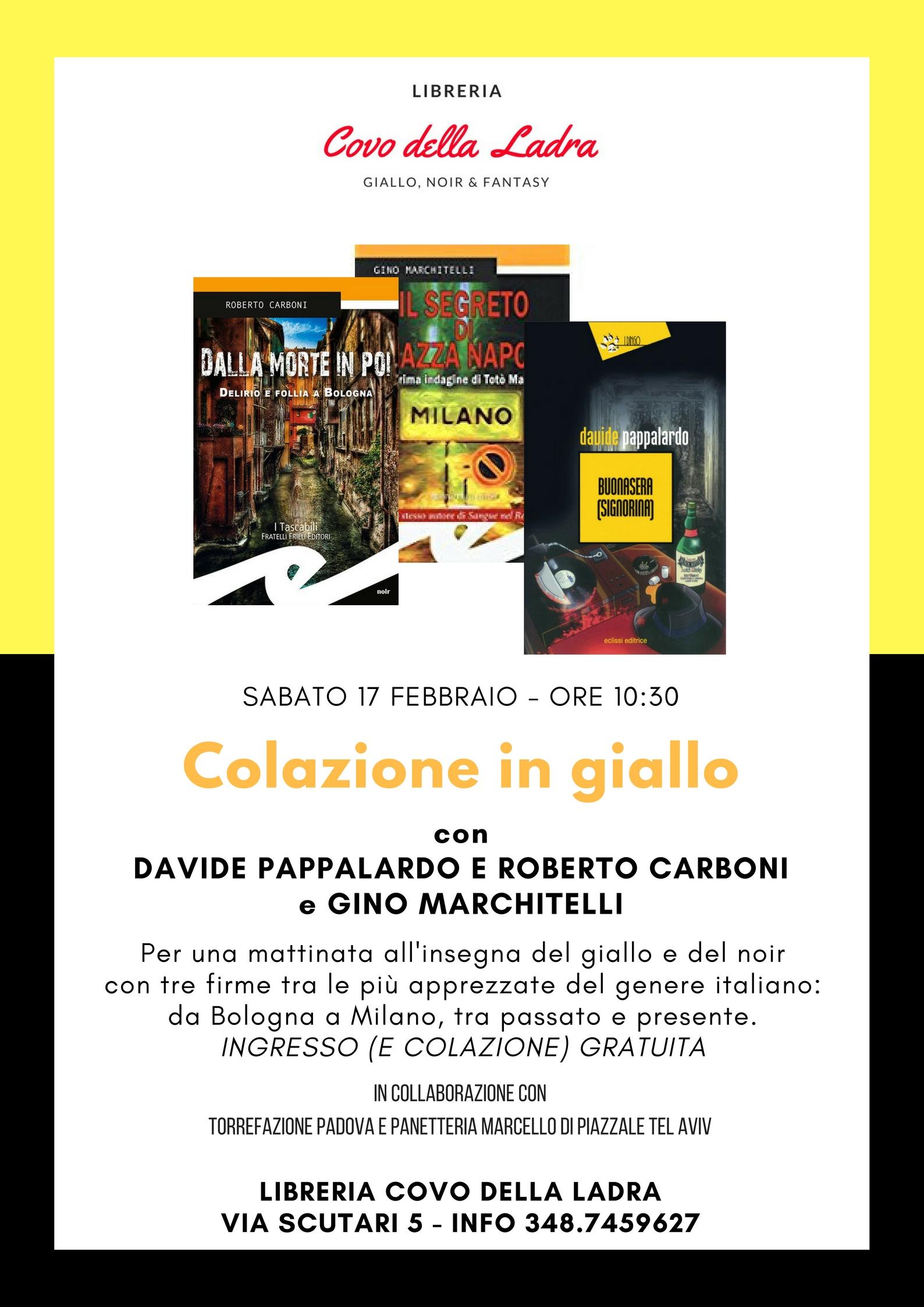 Colazione in giallo con Davide Pappalardo, Roberto Carboni e Gino Marchitelli
