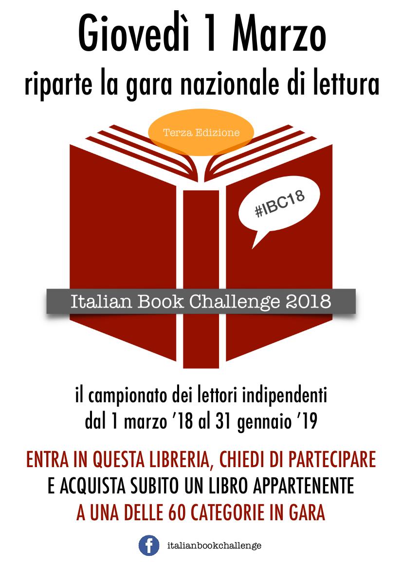 DA OGGI RIPARTE L'ITALIAN BOOK CHALLENGE 2018