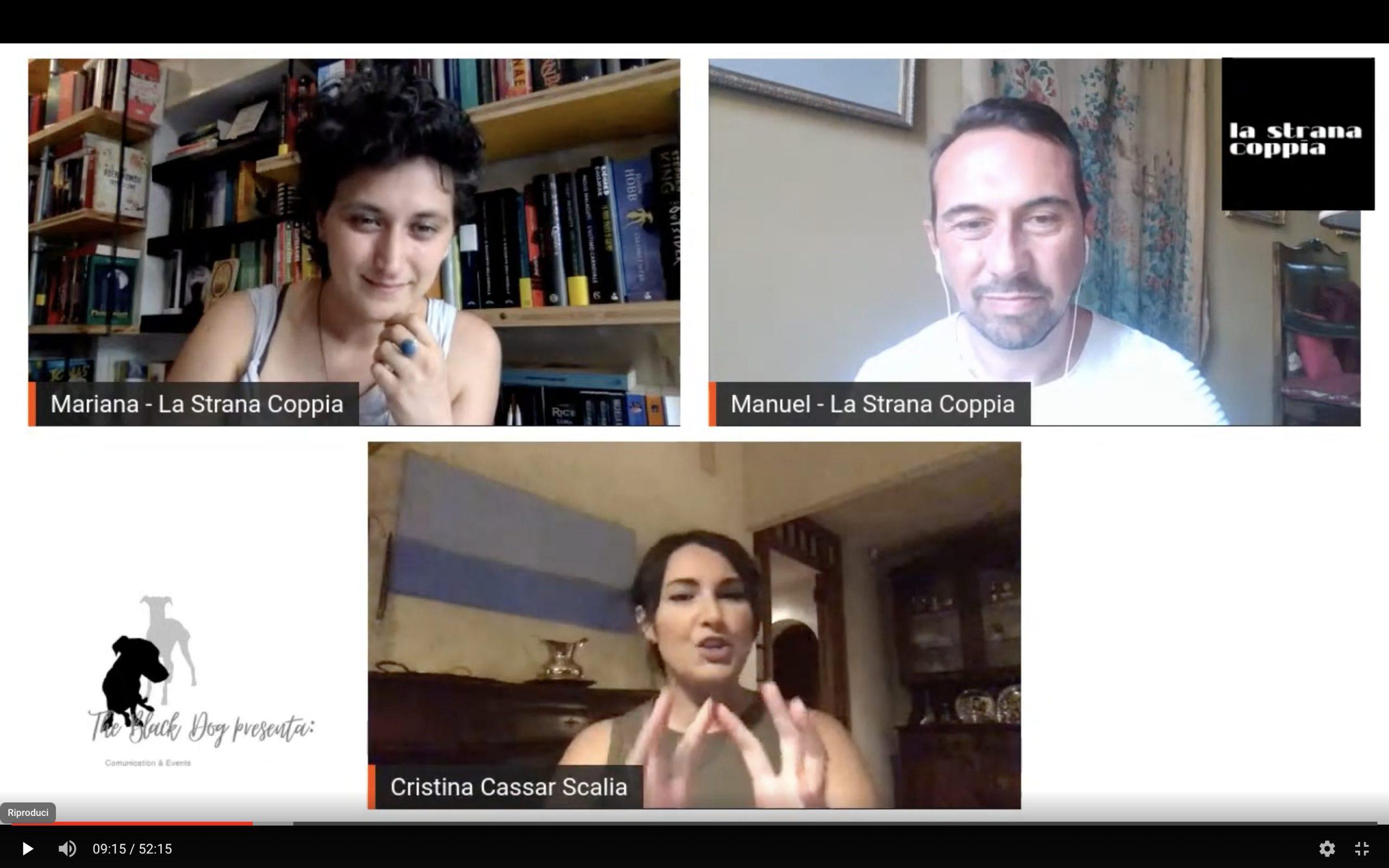 Diretta Aperta con Cristina Cassar Scalia #LaStranaCoppia