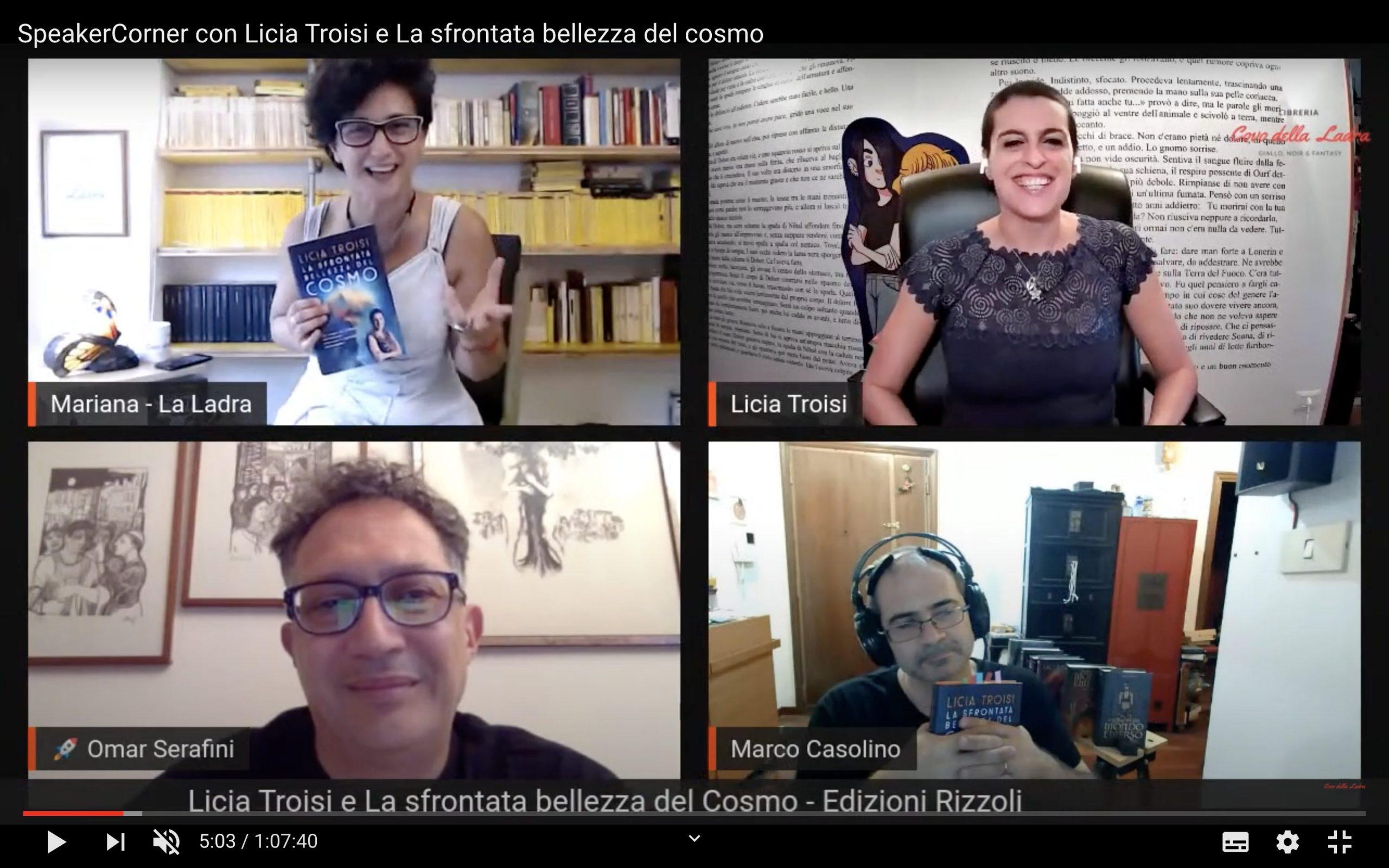 SpeakerCorner con Licia Troisi e La sfrontata bellezza del cosmo